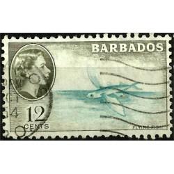 Barbados. 10 Cents. Flying fish
