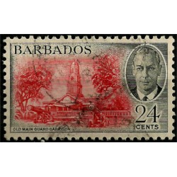 Barbados. 24 Cents. Old Main Guard Garrison