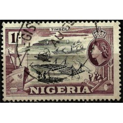 Nigeria. 1953. 1/- . Timber