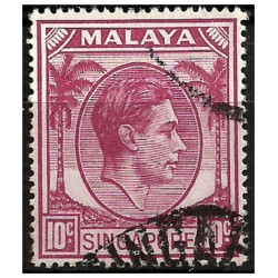 Malaya y Singapur. 1948. 10 Cents. King George VI