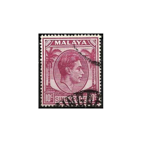 Malaya y Singapur. 1948. 10 Cents. King George VI