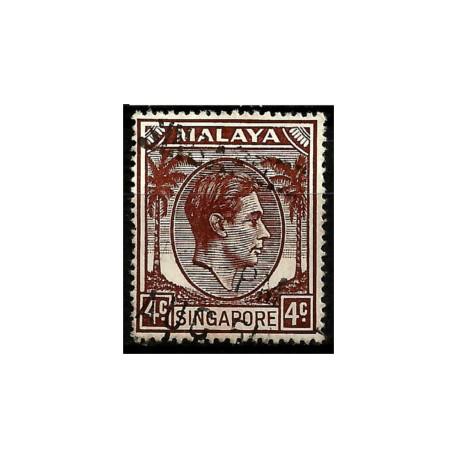 Malaya y Singapur. 1948. 4 Cents. King George VI