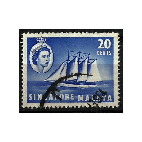 Malaya y Singapur. 20 Cents