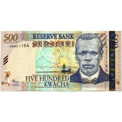 (56b) Malaui. 2011. 500 Kwacha (SC)