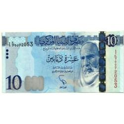(78) Libia. 2015. 10 Dinars (SC)