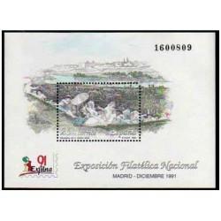 (3145) 1991. 25 Pesetas. Exposición Filatélica Nacional EXFILNA