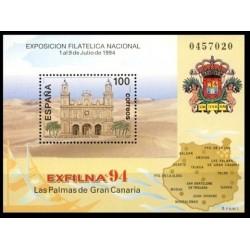 (3313) 1994. 100 Pesetas. Exposición Filatélica Nacional EXFILNA