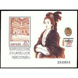 (3068) 1990. 20 Pesetas. Exposición Filatélica Nacional EXFILNA