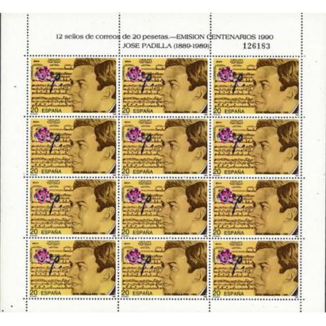 (3070,MP14) 1990. 20 Pesetas (Minipliego de 12 sellos)