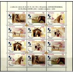 (3723 a 3728A) 2000. Serie Completa (Minipliego de 12 sellos). Exposición Mundial