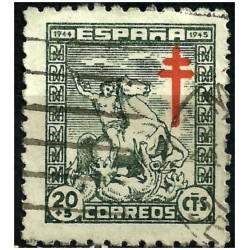 (985) 1944. 20 + 5 Céntimos. Pro Tuberculosos