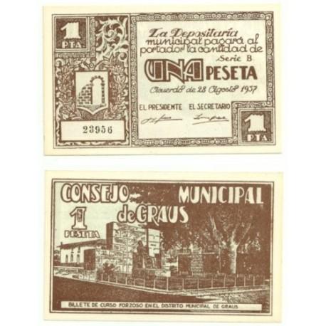Graus [1937] Billete de 1 Peseta (SC)