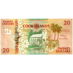 (9a) Islas Cook. 1992. 20 Dollars (SC)
