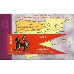 (4563) 2010. 2,49 Euro. 1100 Aniversario de la fundación del Reino de León