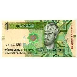(9) Turkmenistán. 2014. 1 Manat (SC)