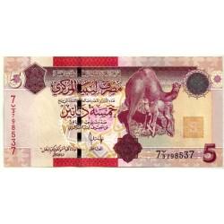 (72) Libia. 2009. 5 Dinars (SC)