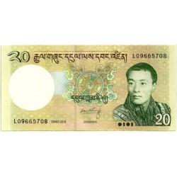 (30b) Bhutan. 2013. 20 Ngultrum (SC)