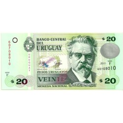 (86b) Uruguay. 2011. 20 Pesos (SC)