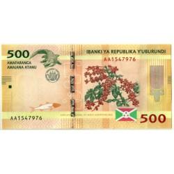 (50) Burundi. 2015. 500 Francs (SC)