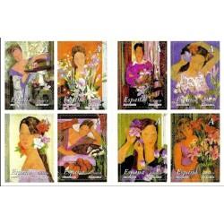 (4003 a 4010) 2003. Serie Completa. La mujer y las flores
