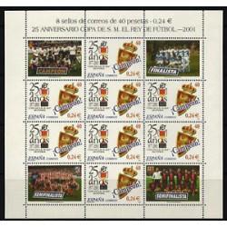 (3805) 2001. 40 Pesetas (0,24 Euro). Minipliego de 8 sellos. 25 Años Copa S.M. el Rey
