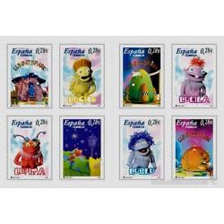(4176 a 4183) 2005. 8x 0,28 Euro. Carné de 8 sellos. Para los niños. Los Lunnis