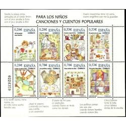 (4154) 2005. 3x 0,28, 3x 0,53, 2x 0,78 Euro. Para los niños. Canciones y cuentos populares