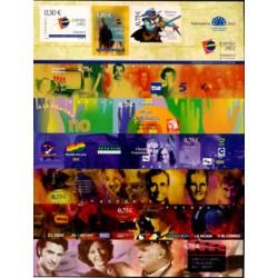 (3943) 2002. 0,50, 7x 0,75, 1,80 Euro. Exposición Mundial de Filatelia Juvenil ESPAÑA 2002