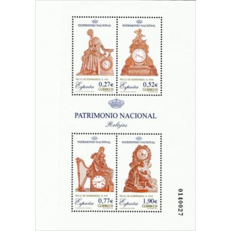 (4071) 2004. 0,27, 0,52, 0,77, 1,90 Euro. Patrimonio Nacional. Relojes