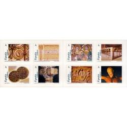 (4052 a 4059) 2004. Carné de ocho sellos. El románico aragones