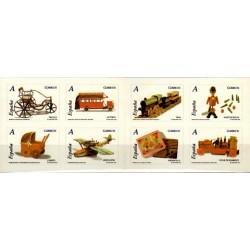 (4288 a 4295) 2007. Carné de ocho sellos. Juguetes