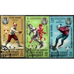 Arabia del Sur. Serie Completa. Juegos Olímpicos de Invierno 1968
