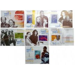 (4268 a 4274) 2006. 7x 2,33 Euro. 7 Hojitas. Exposición Mundial de Filatelia ESPAÑA