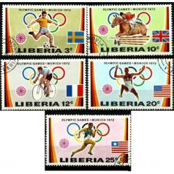 Liberia. 1972. Serie Completa. Juegos Olímpicos MUNICH