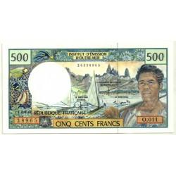 (1e) Territorios Franceses de Ultramar. 1990-2012. 500 Francs (SC)