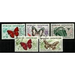 República Centroafricana. Lote Mariposas