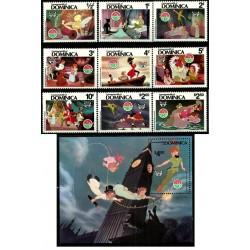 Dominica. 1980. Serie Completa. Navidad & Peter Pan