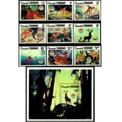Grenada. 1980. Serie Completa. Navidad & Bambi