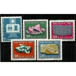(B303 a B307) Suiza. 1961. Serie Completa. Pro Patria