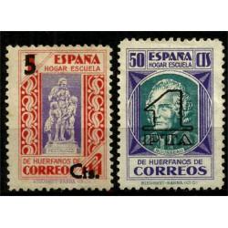(27-28) Beneficiencia. 1938. Serie Completa. Habilitados con nuevo valor