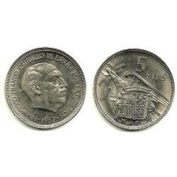 Estado Español. 1957*(BA). 5 Pesetas (EBC+)