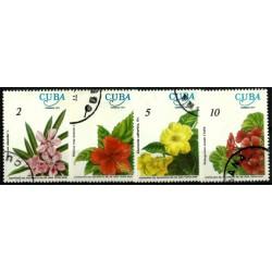 (2140 a 2143) Cuba. 1977. Serie Completa. Flores