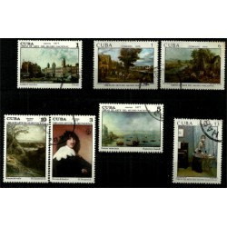 Cuba. 1977-79. Serie Mini. Obras de Arte del Museo Nacional