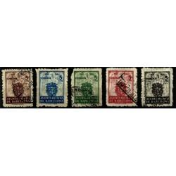 (55 a 59) Exposición Internacional de Barcelona. 1944. Serie Completa