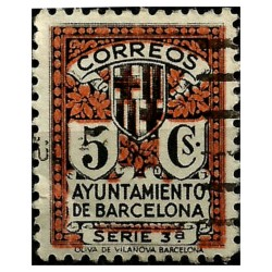 (11) Exposición Internacional de Barcelona. 1932-35. 5 Céntimos