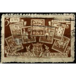 (69) Exposición Internacional de Barcelona. 1945. 5 Céntimos