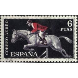 (1318) 1960. 6 Pesetas. Deportes. Hípica