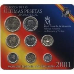 España. 2001. Cartera Oficial (SC)