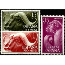 Río Muni. 1962. Serie Completa. Día del Sello (Nuevo)