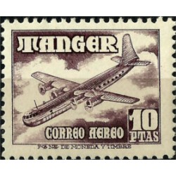 Protectorado de Marruecos (Tanger). 1949-50. 10 Pesetas. Correo Aereo (Nuevo)
